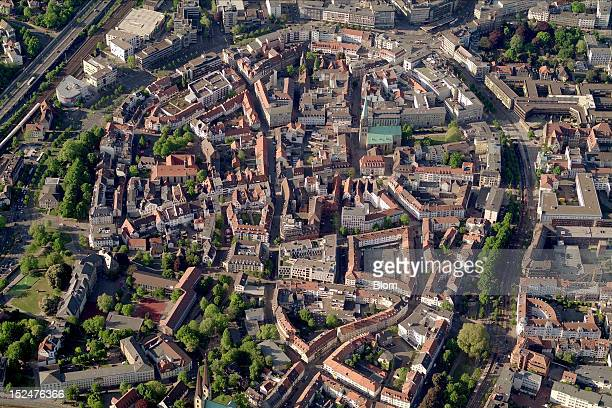 An aerial image of Old Town Bielefeld