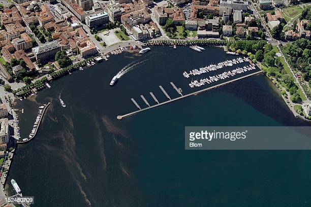 An aerial image of Old Town, Como