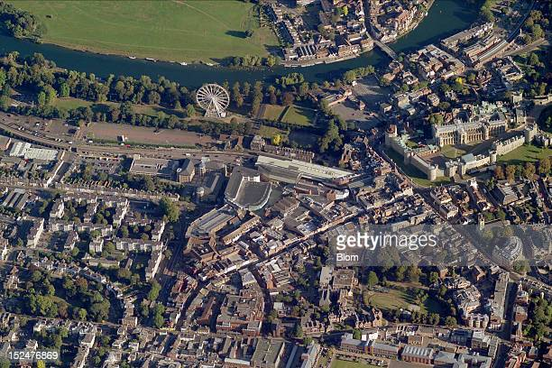 An aerial image of Old Town, Windsor