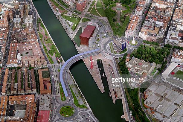 An aerial image of Palacio Euskalduna Jauregia Bilbao