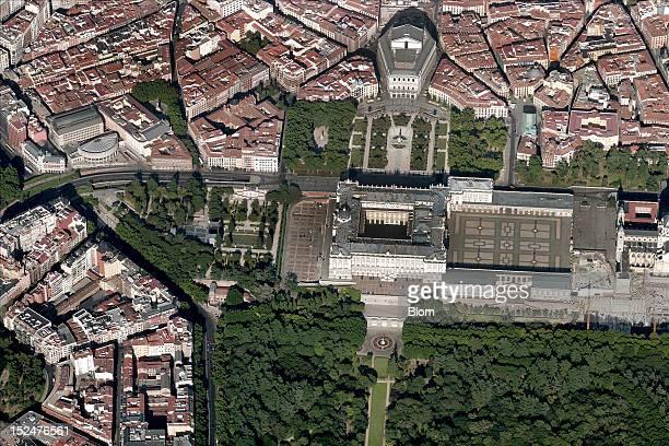 An aerial image of Palacio Real Madrid