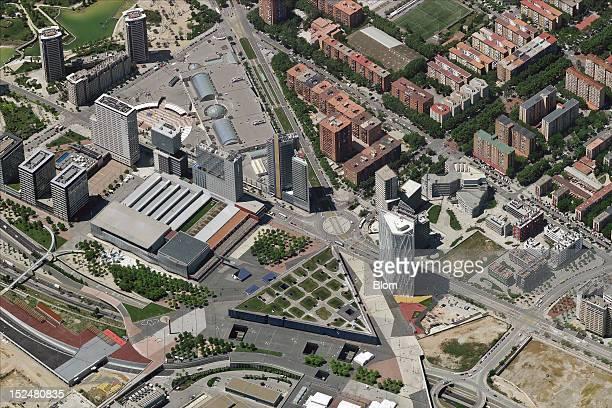 An aerial image of Parc De Diagonal Mar Barcelona