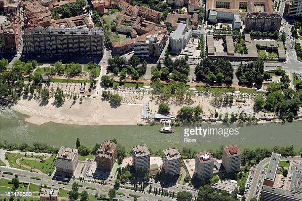 An aerial image of Parque De Las Moreras, Valladolid