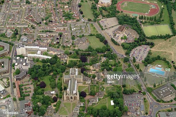 An aerial image of Peterborough Cathedral Peterborough