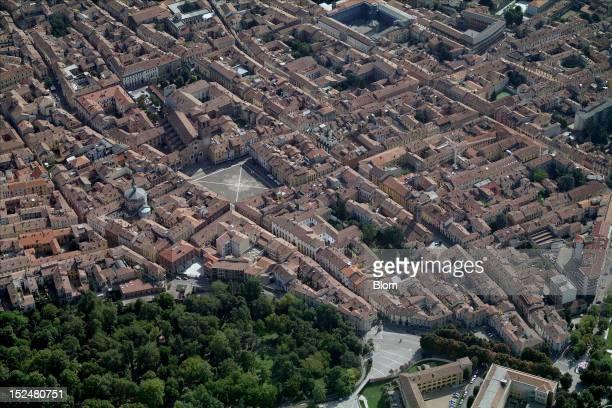 An aerial image of Piazza della Vittoria Lodi