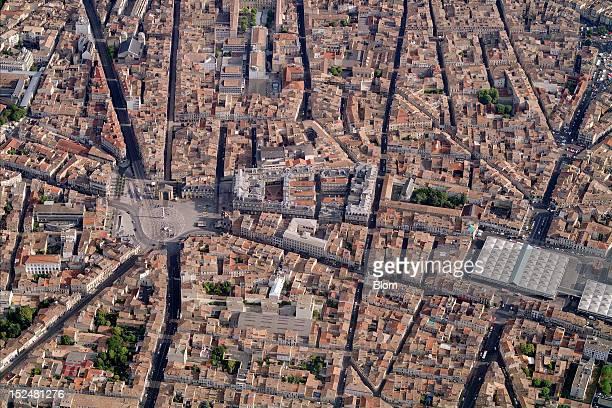 An aerial image of Place De La Victoire Bordeaux