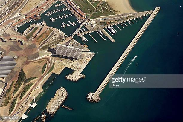 An aerial image of Port Forum Barcelona
