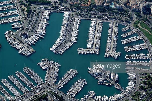An aerial image of Port Vauban Antibes Antibes
