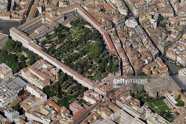 An aerial image of Quirinal Palace Rome
