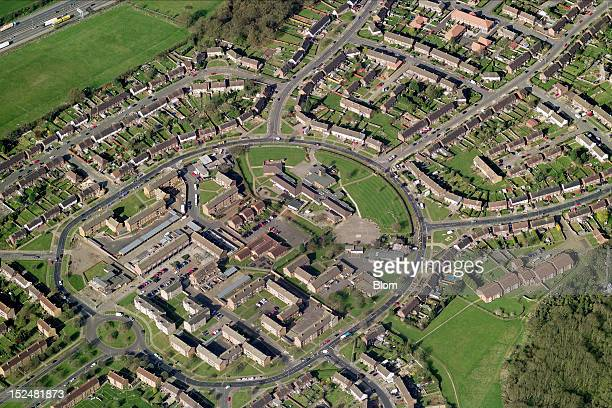 An aerial image of Residential Area Luton