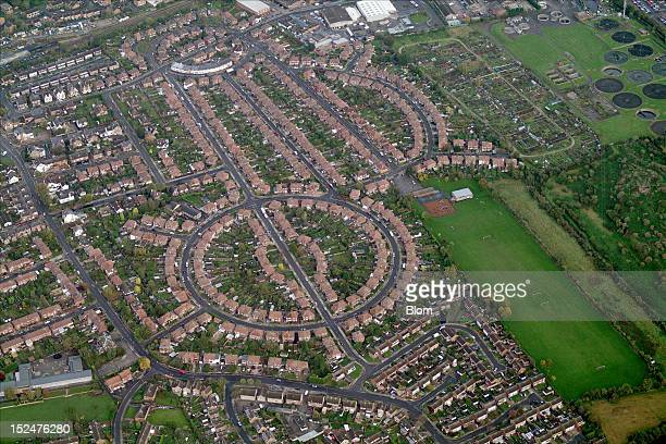 An aerial image of Residential Area Notthingam