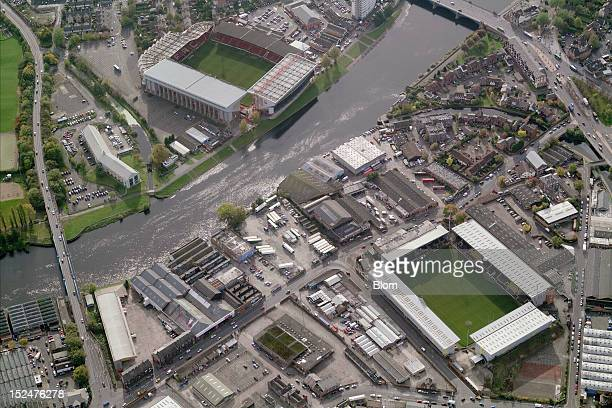 An aerial image of Rugby And Footbal Stadiums, Nottingham