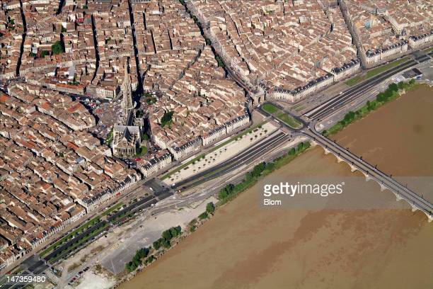 An aerial image of Saint Michel Cathedral Bordeaux