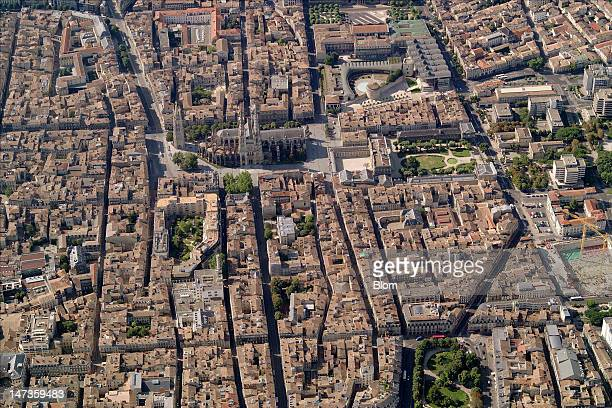 An aerial image of San Andre Cathedral Bordeaux