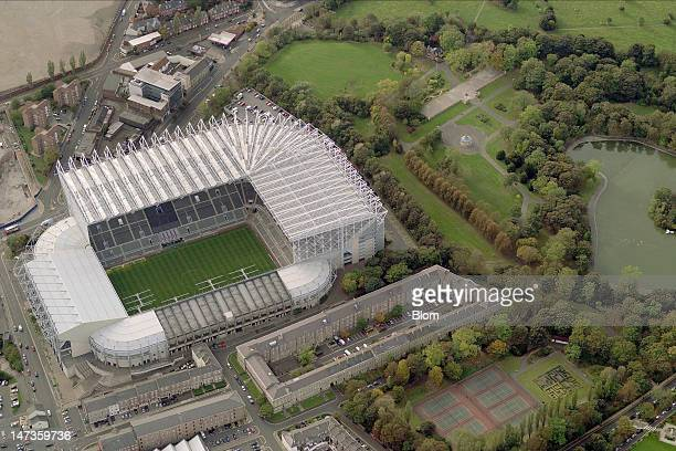 An Aerial image of St James'Park Stadium Newcastle Upon Thyne