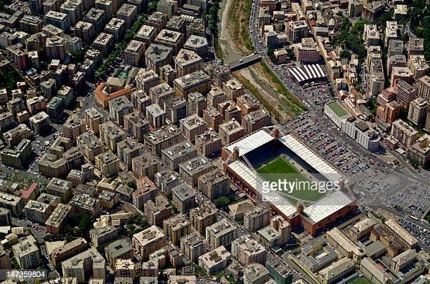 An aerial image of Stadio Luigi Ferraris Genoa