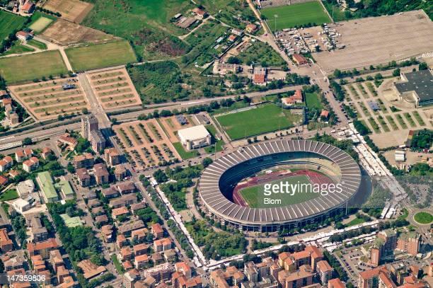 An aerial image of Stadio Marc'Antonio Bentegodi, Verona