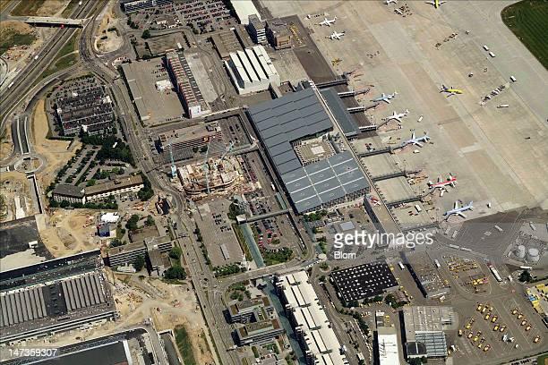 An aerial image of Stuttgart Airport Stuttgart