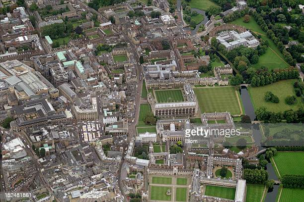An aerial image of Trinity College Cambridge