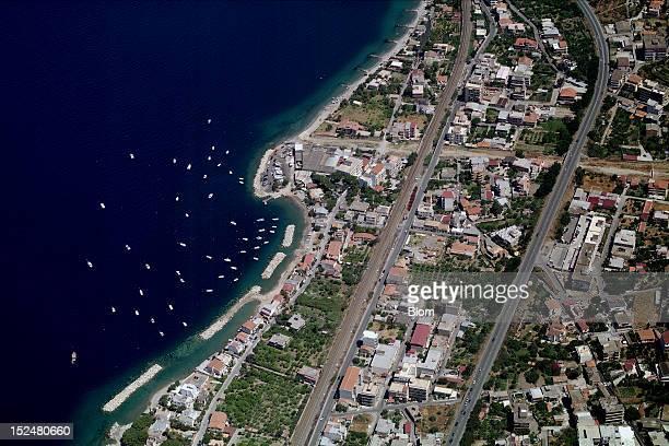An aerial image of Via Lungomare Reggio di Calabria