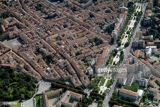 An aerial image of Viale 4 Novembre Lodi