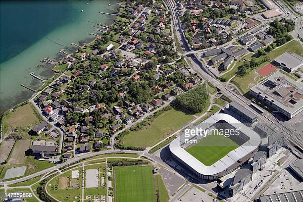 An Aerial image of Viking Stadion Stavanger
