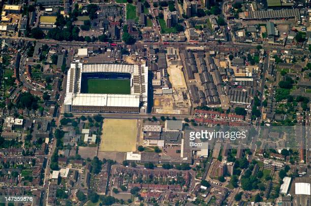 An aerial image of White Hart Lane Tottenham