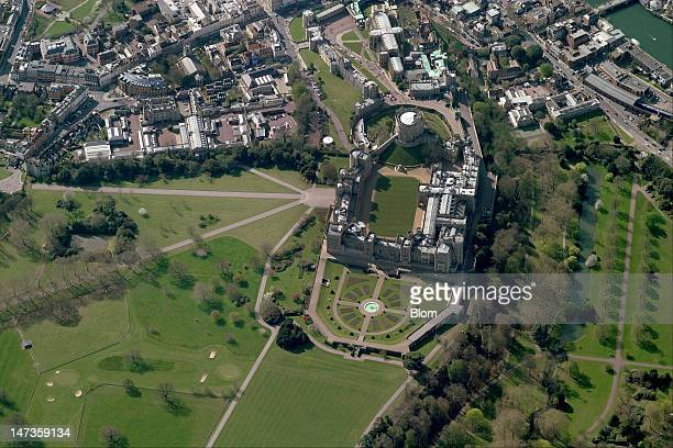 An aerial image of Windsor Castle Windsor