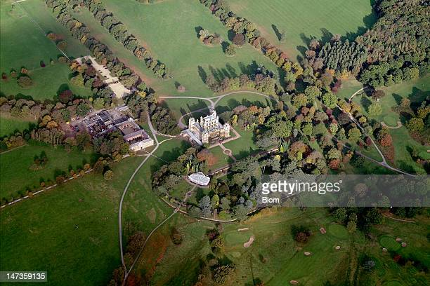 An aerial image of Wollaton Park, Nottingham
