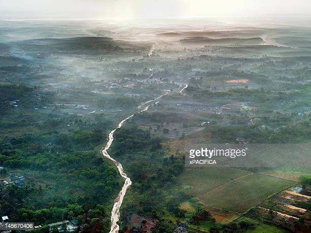 An aerial morning view of Johor