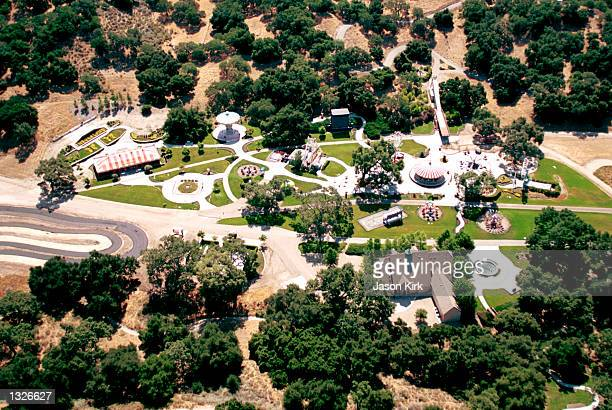 An aerial of singer Michael Jackson''s Neverland Valley Ranch June 25, 2001 in Santa Ynez, CA.