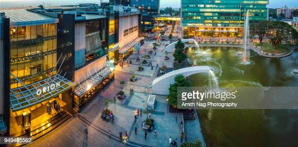 An aerial panoramic view of the Orion Mall, Bangalore