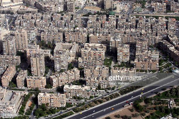 An aerial photo shows the city taken on May 07 2007 in Damascus Syria