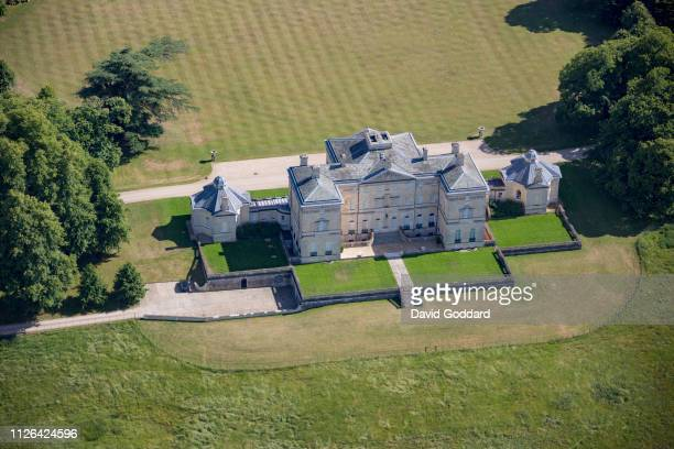 KINGDOM JUNE 2018 An aerial photograph of Buckland House on June 24th 2018 This Georgian Stately home is located to the north of Buckland village in...