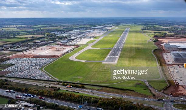 KINGDOM OCTOBER 2018 An aerial photograph of East Midlands Airport on October 1st 2018 Aerial Photograph by David Goddard