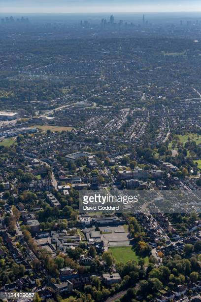 KINGDOM OCTOBER 2018 An aerial photograph of Finchley and Central London in the background on October 9th 2018 Aerial Photograph by David Goddard