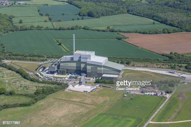KINGDOM MAY 22 An aerial photograph of Greatmoor Energy from Waste facility on May 22 2017 in Edgcott England