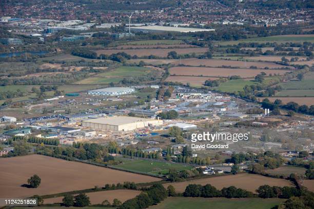 KINGDOM OCTOBER 2018 An aerial photograph of the Atomic Weapons Establishment site at Burghfield three miles south east of Reading on the 9th October...