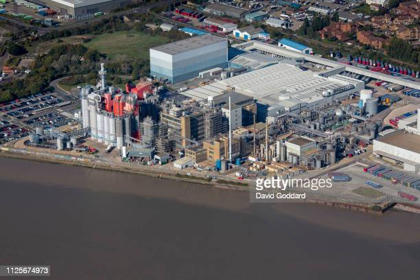 KINGDOM OCTOBER 2018 An aerial photograph of the Procter Gamble London Plant on the River Thames 18 miles west of Central London on October 9th 2018...