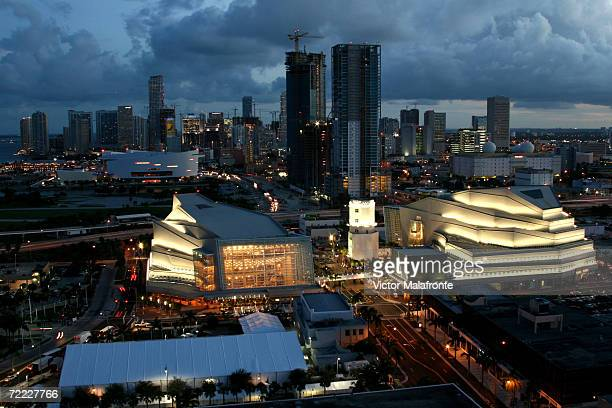 An aerial shot at the Grand Opeing of the Carnival Center For The Perfomring Arts on October 5 2006 in Miami Beach Florida