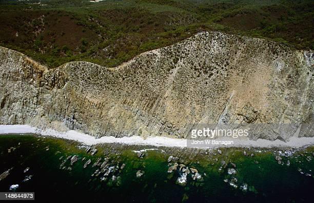 An aerial shot of the Kangaroo Island coastline