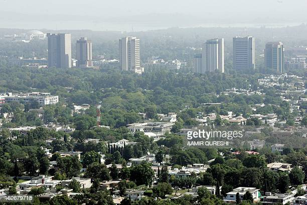 An aerial shot taken 20 October 2005 shows part of the Pakistani capital of Islambad When Islamabad was built more than four decades ago near the...