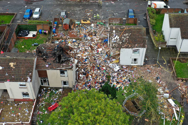 GBR: House Explosion In Ayr