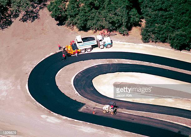 An aerial view of a section of singer Michael Jackson''s Neverland theme park June 25 2001 in Santa Ynez CA