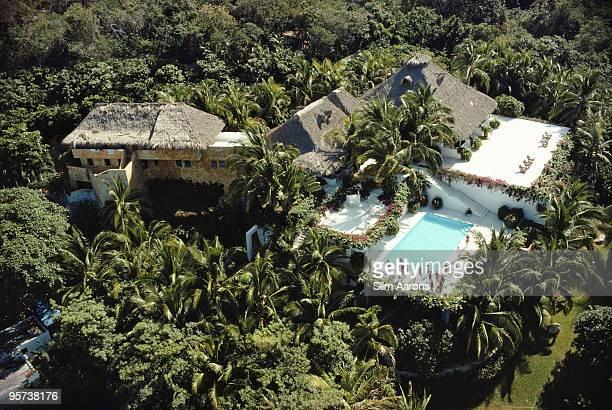 An aerial view of a villa belonging to Italian construction magnate Anna BonomiBolchini Acapulco Mexico February 1975