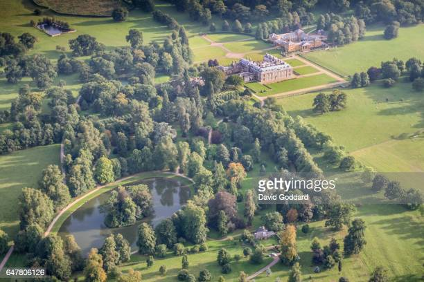 ENGLAND NORTHAMPTONSHIRE An aerial view of Althorp House Home of the aristocratic Spencer family on September 9 2006 The island in the Round Oval...