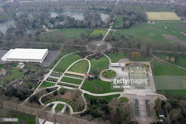 An aerial view of Battersea Park March 25 2007 in London England