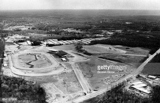 An aerial view of Bay State Raceway a possible site for the Patriots' new football stadium March 24 1970