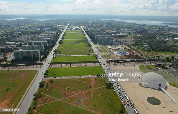 An aerial view of Brasilia venue for the 2014 FIFA World Cup on December 13 2012 in Brasilia Brazil