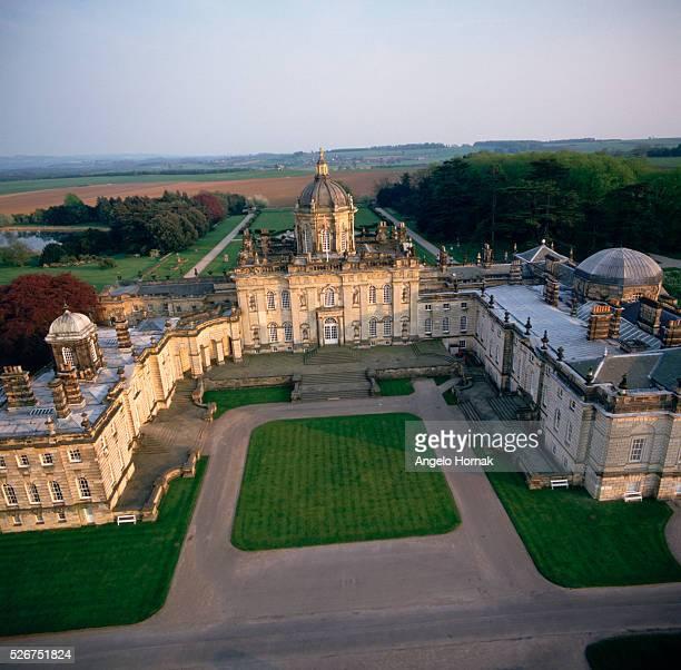 An aerial view of Castle Howard Designed by Sir John Vanbrugh and assisted by Nicholas Hawksmoor for Charles Howard the Third Earl of Carlisle Sir...